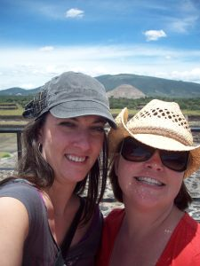 At Teotihuacán (gotta love the self-portraits)