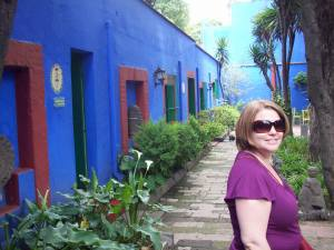 The lovely lady herself at Frida Kahlo and Diego Rivera's house