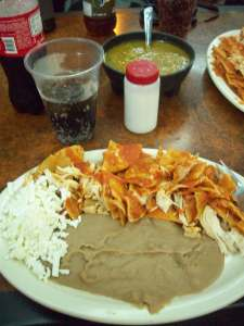 chilaquiles in Monterrey (morning after a lonnnnng wedding)
